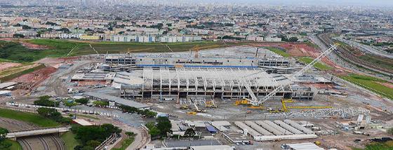 Obras Itaquerão - Arena Corinthians em Itaquera