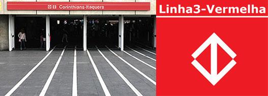 Estação Corinthians-Itaquera - Linha 3 Vermelha